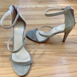 Strappy sparkle heels, Kelly & Katie